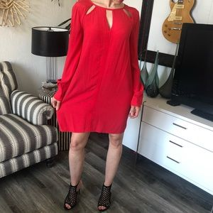 Bcbg Maxazria hot pink/coral dress